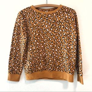 Old Navy Animal Print Sweatshirt Girls XL 14